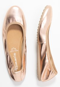 Tamaris - Ballet pumps - rose metallic - 3