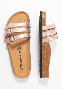 Tamaris - SLIDES - Slippers - rose gold - 3