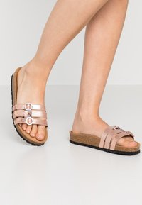 Tamaris - SLIDES - Slippers - rose gold - 0