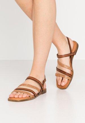 Sandals - cognac/bronc