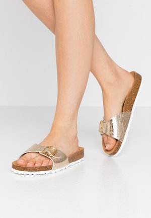 SLIDES - Mules - light gold