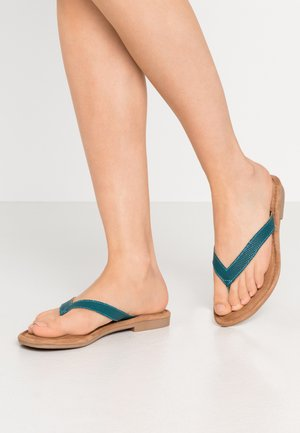 SLIDES - T-bar sandals - azur