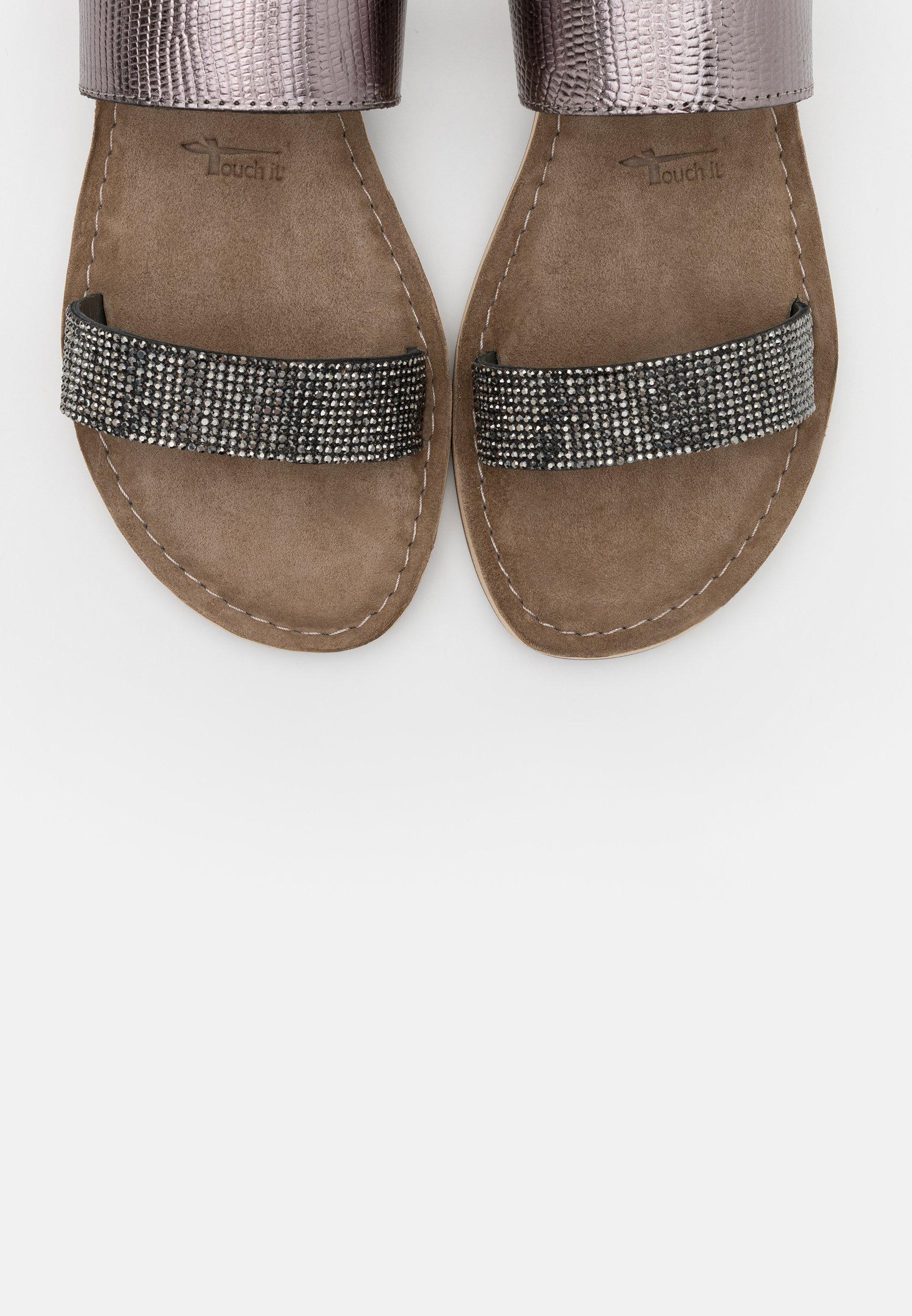 Sandales pewter glam