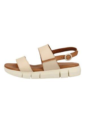 Sandalen met plateauzool - cream/cognac 439