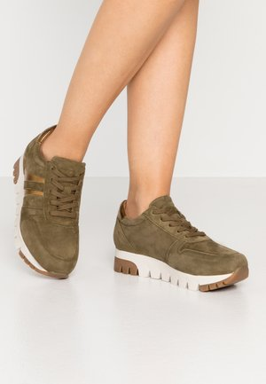 LACE UP - Trainers - olive/bronce
