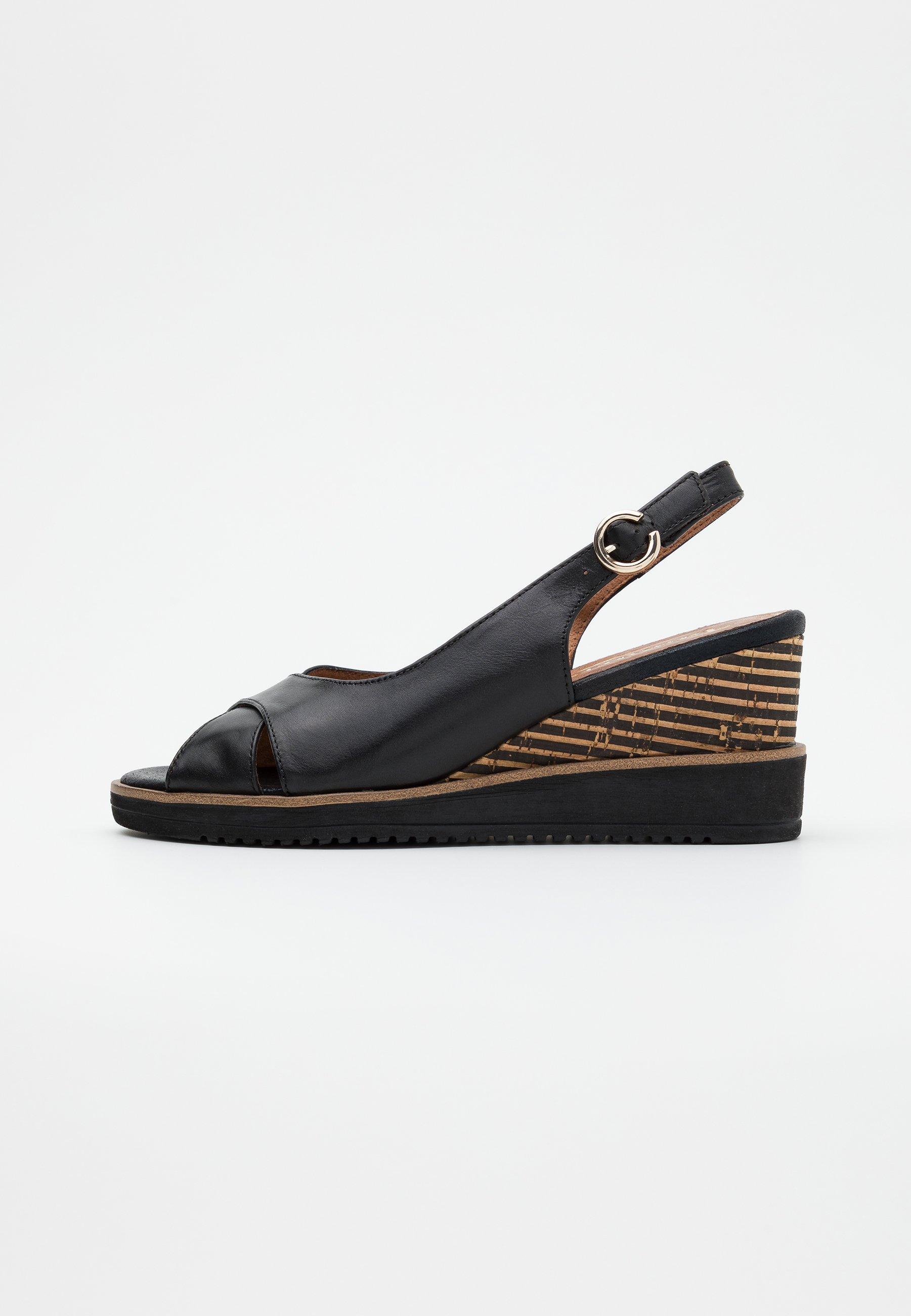 Sandalen met sleehak black