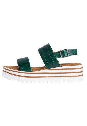Platform sandals - white 100