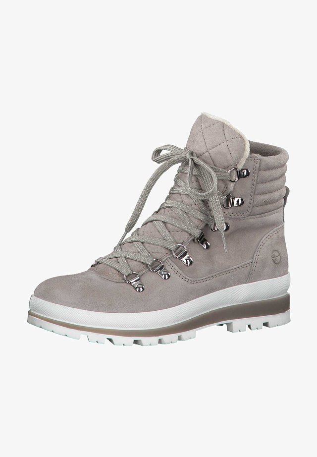 Lace-up ankle boots - light grey 254