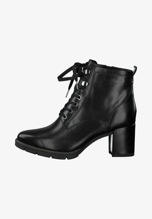 Schnürstiefelette - black