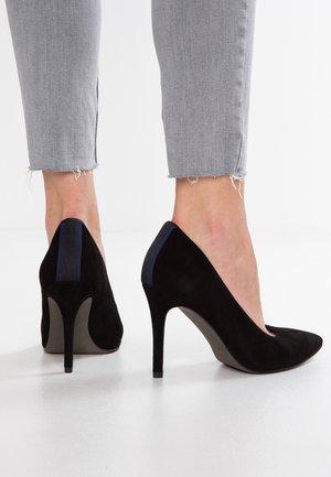 High heels - black/navy