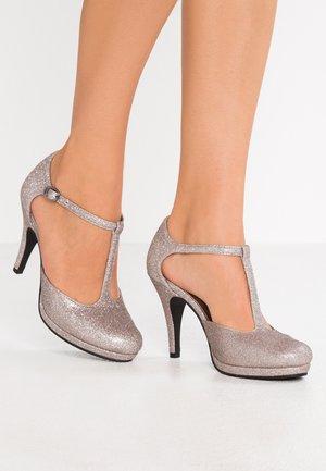 Lodičky na vysokém podpatku - space glam