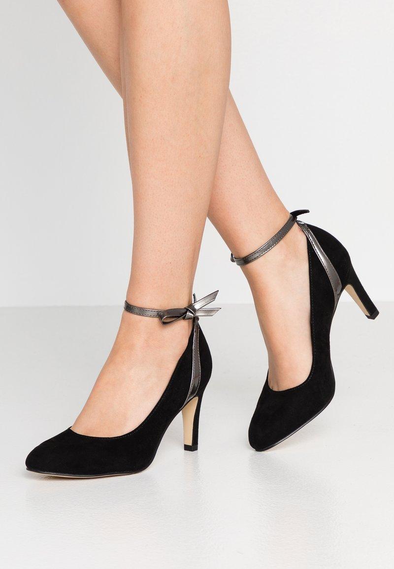Tamaris - Classic heels - black/pewter metallic