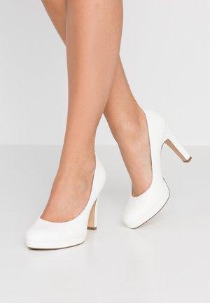 Lodičky na vysokém podpatku - white matt