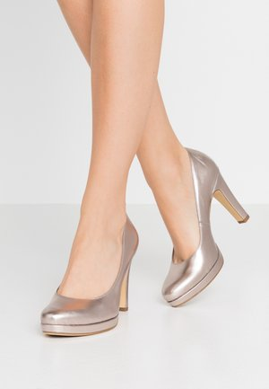 High heels - rose metallic