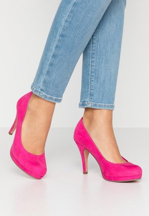 Zapatos altos - fuxia