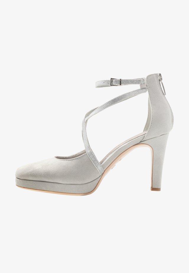 High Heel Pumps - grey/glam