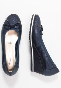 Tamaris - COURT SHOE - Sleehakken - navy - 3