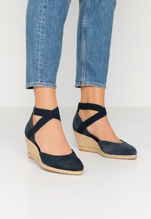 WOMS SLIP-ON - Wedges - navy