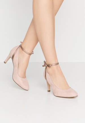 Klassiske pumps - rose metallic