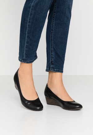 COURT SHOE - Pumps m/ kilehæl - black