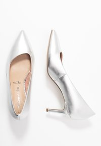 Tamaris - COURT SHOE - Klassiske pumps - silver - 3