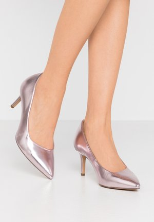 COURT SHOE - Czółenka - rose metallic