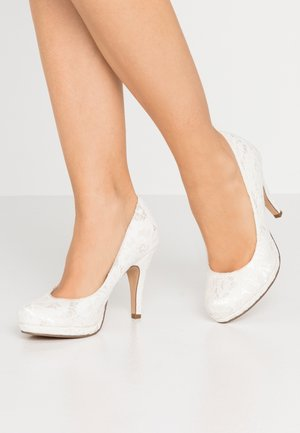 COURT SHOE - Højhælede pumps - champagner