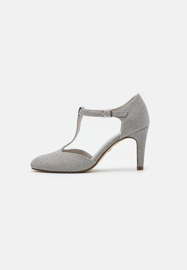 Klassiske pumps - silver glam