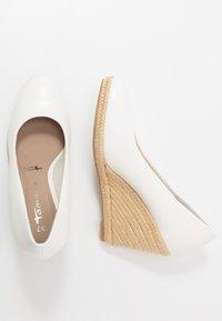 Tamaris - COURT SHOE - High heels - white - 3