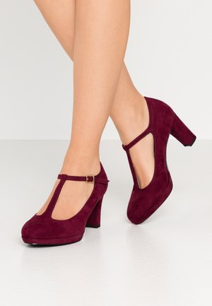 WOMS SLIP-ON - Plateaupumps - merlot