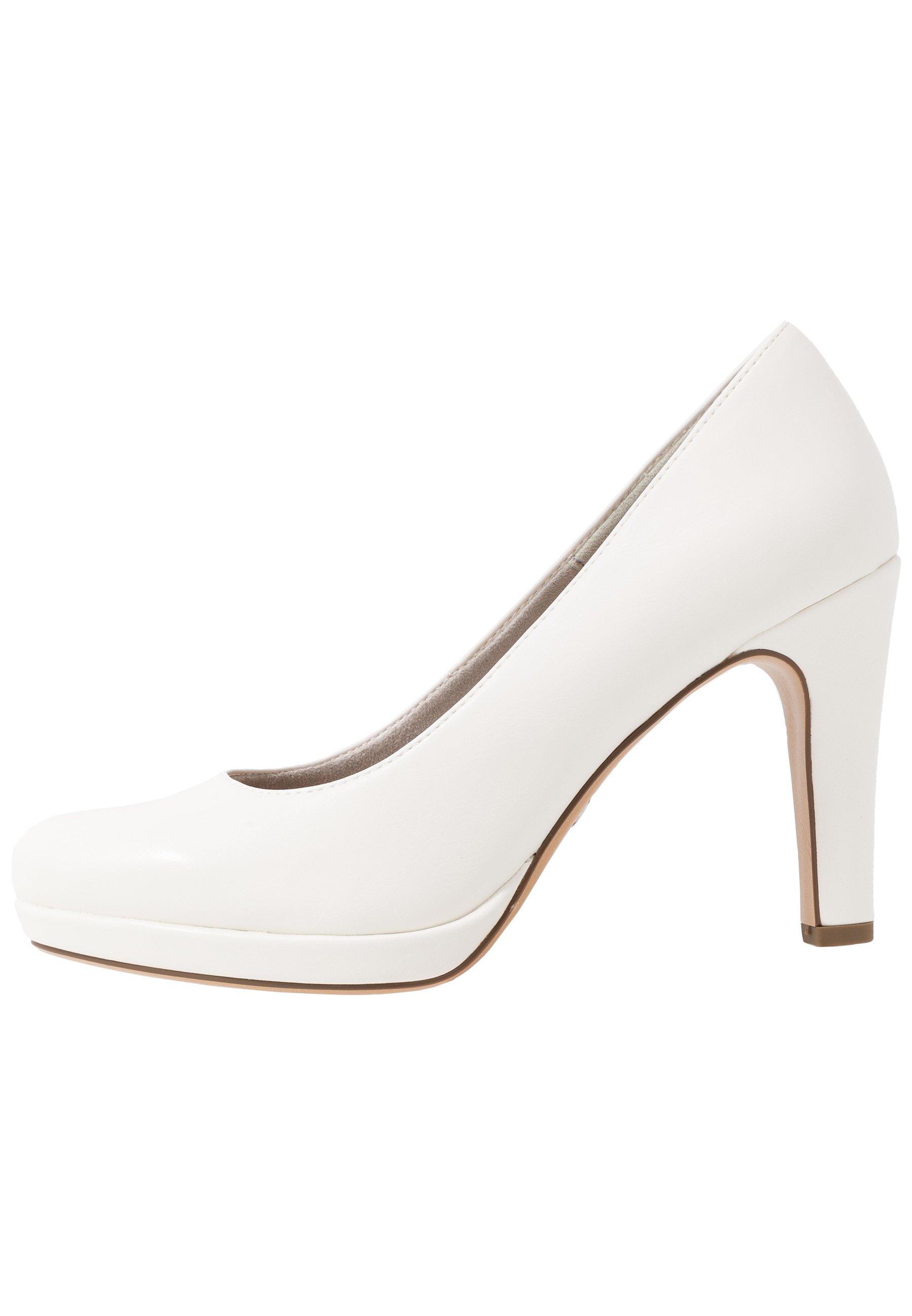 High Heel Pumps white matt