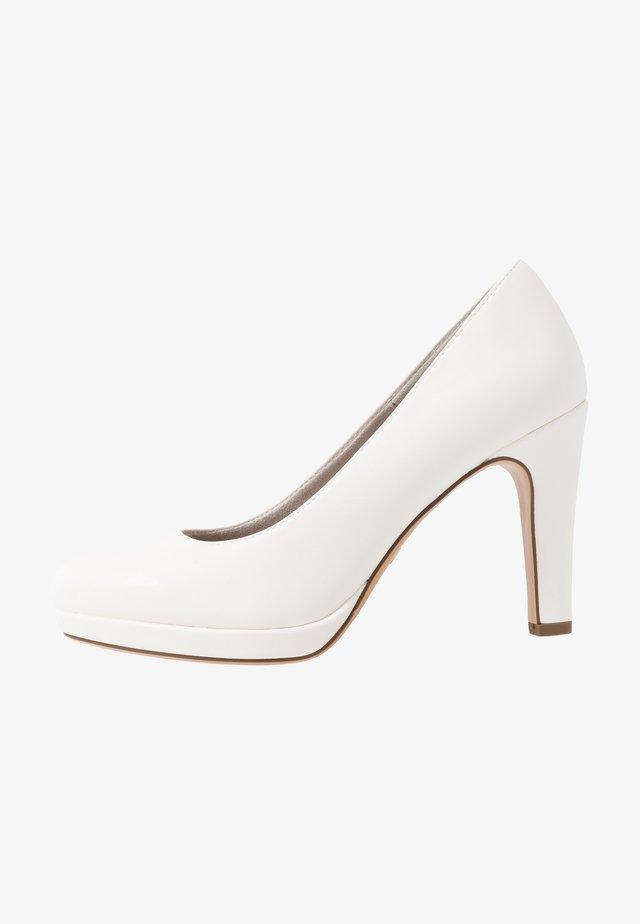 High Heel Pumps - white matt