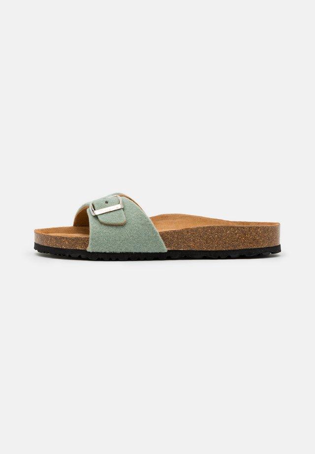 SLIDES - Pantoffels - sage