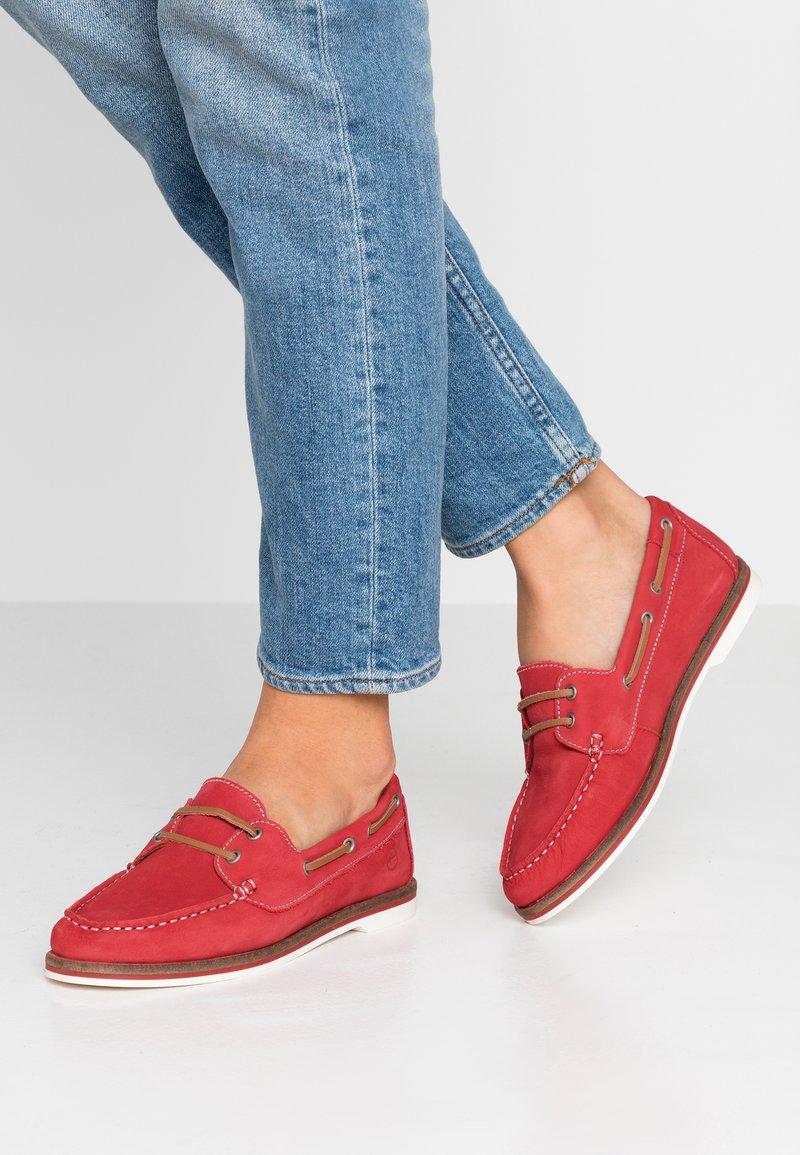 Tamaris - Boat shoes - red