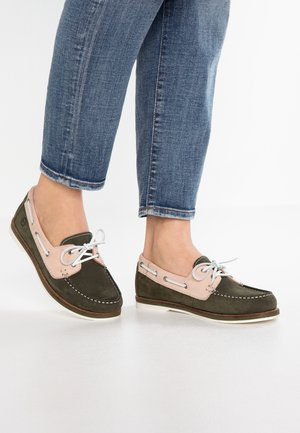 Boat shoes - forest/light pink