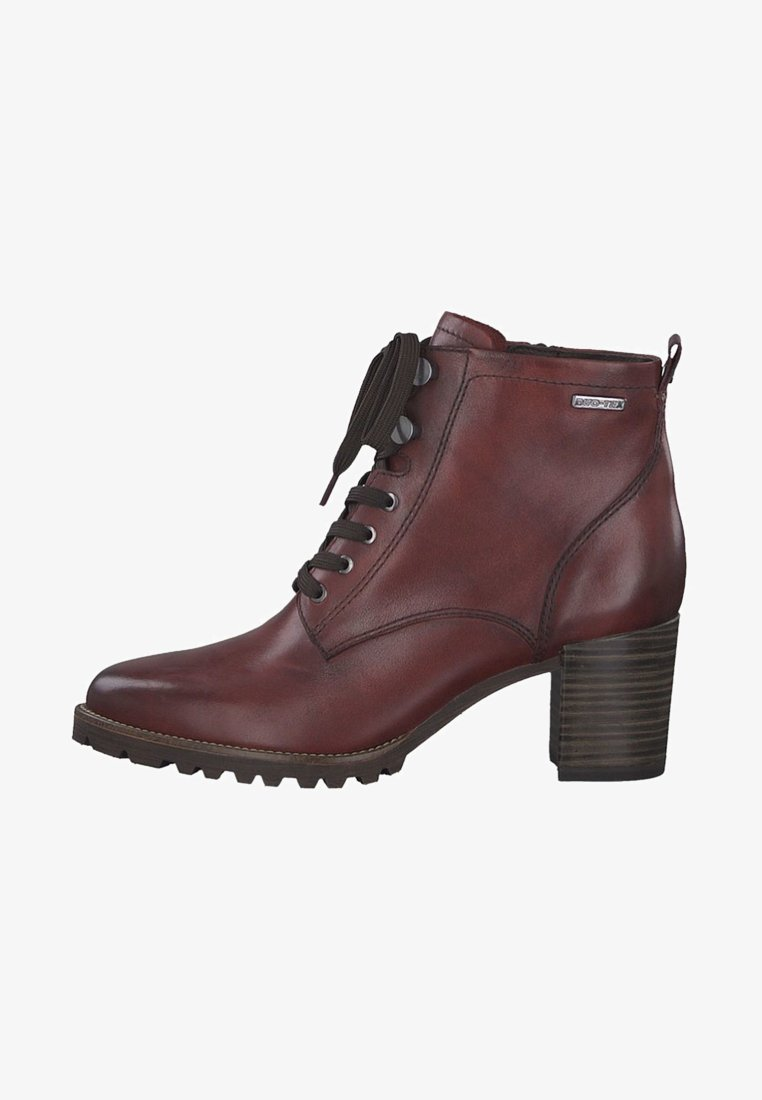 Tamaris - Lace-up ankle boots - sangria