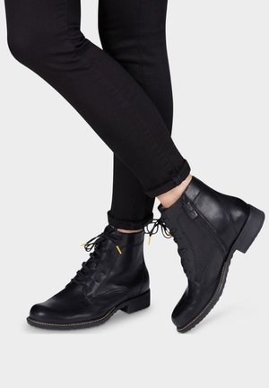 STIEFELETTE - Bottines à lacets - black