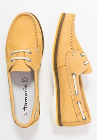 Tamaris - WOMS LACE-UP - Chaussures bateau - yellow - 3