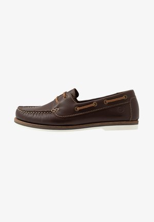 LACE-UP - Boat shoes - chestnut