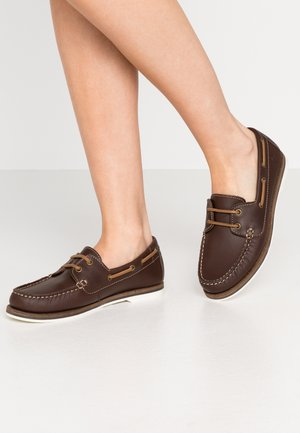 LACE-UP - Bootsschuh - chestnut