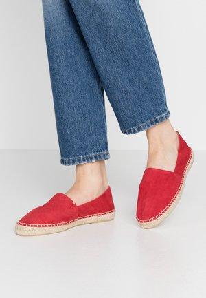 SLIP-ON - Espadrilles - red