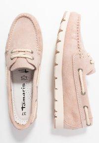 Tamaris - WOMS LACE-UP - Chaussures bateau - rose - 3
