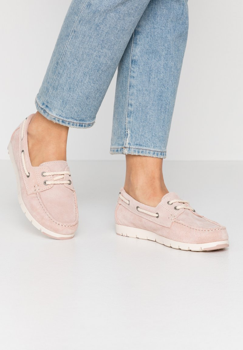 Tamaris - WOMS LACE-UP - Chaussures bateau - rose