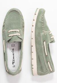 Tamaris - WOMS LACE-UP - Chaussures bateau - sage - 3