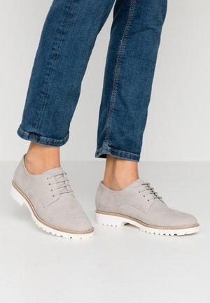 Lace-ups - light grey