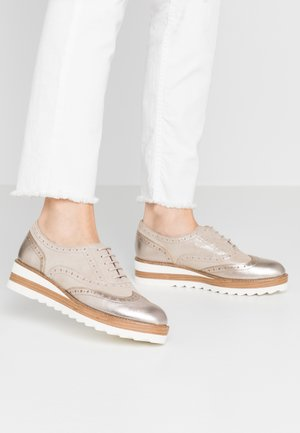 LACE-UP - Derbies - champagne pearl