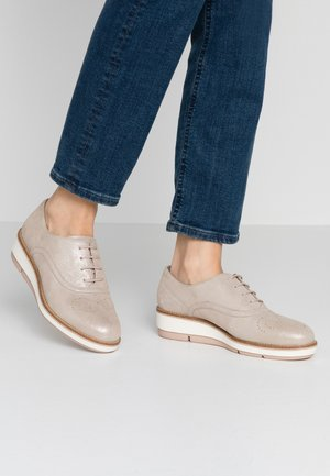 LACE-UP - Casual lace-ups - champagner pearl