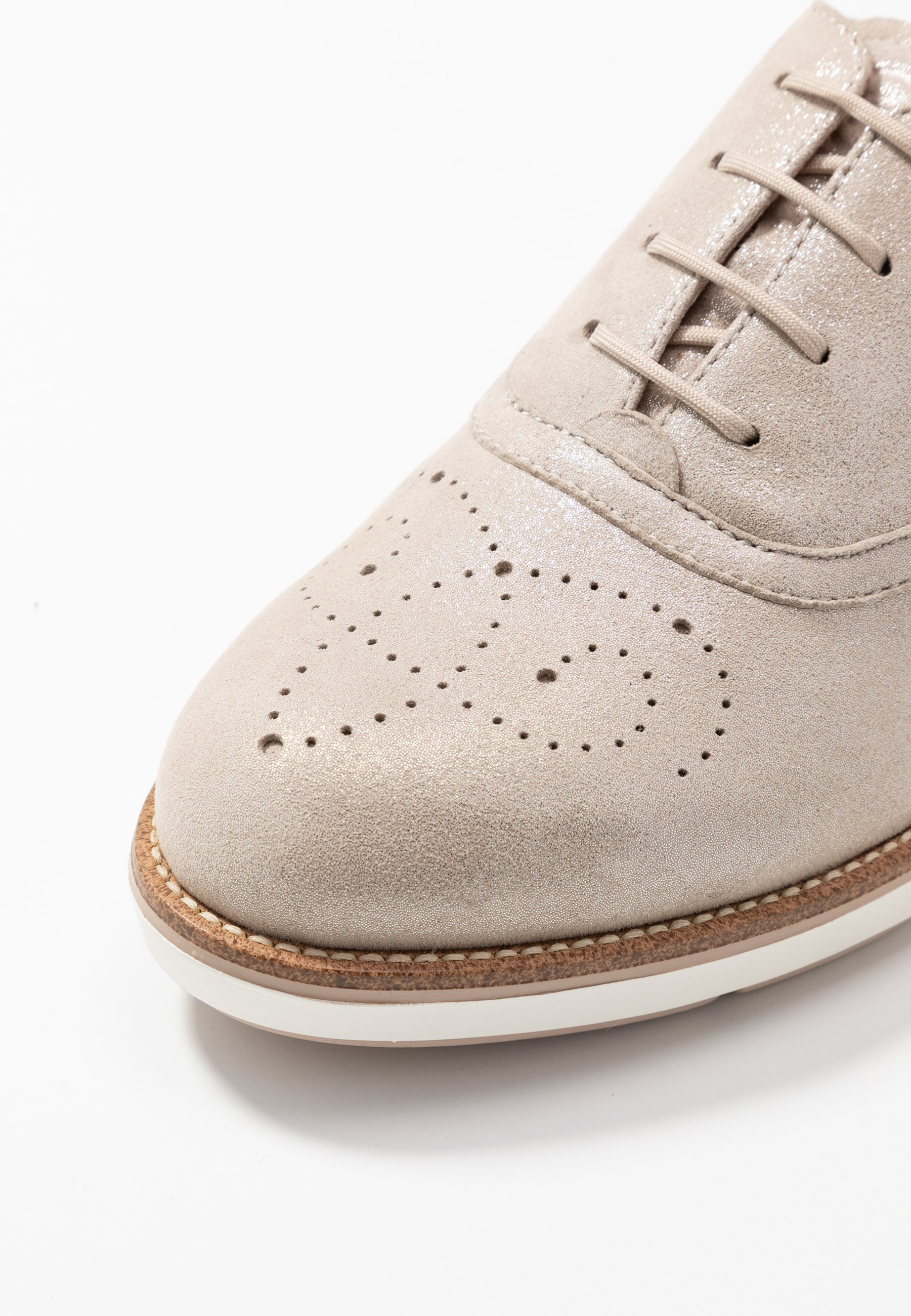 Tamaris LACE-UP - Chaussures à lacets - champagner pearl