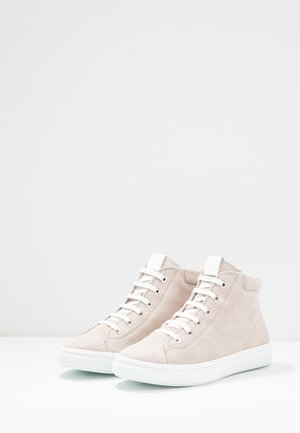High-top trainers - ivory