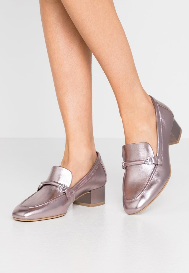 Slippers - rose metallic